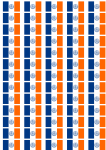 New York City Flag Stickers - 65 per sheet